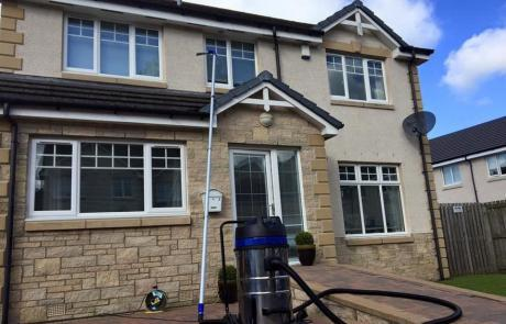gutter cleaning cardiff with vac
