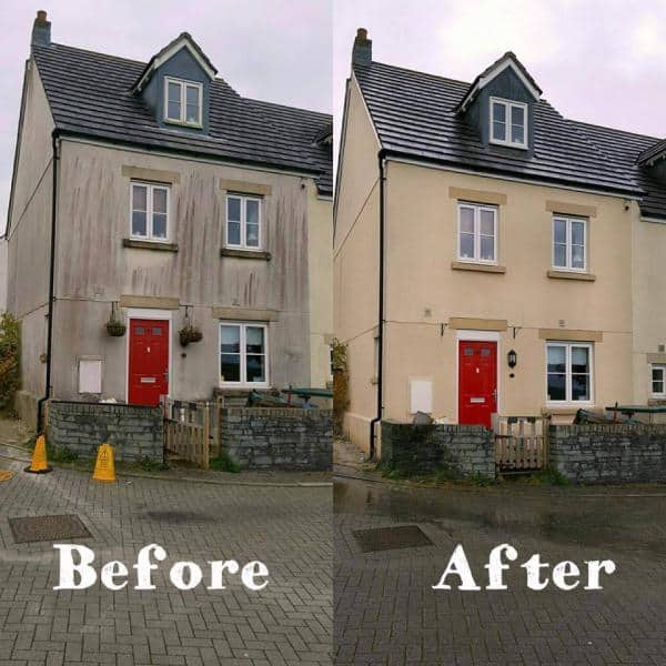 render cleaning south wales before and after